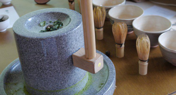 A traditional Matcha mill in Wazuka, Japan