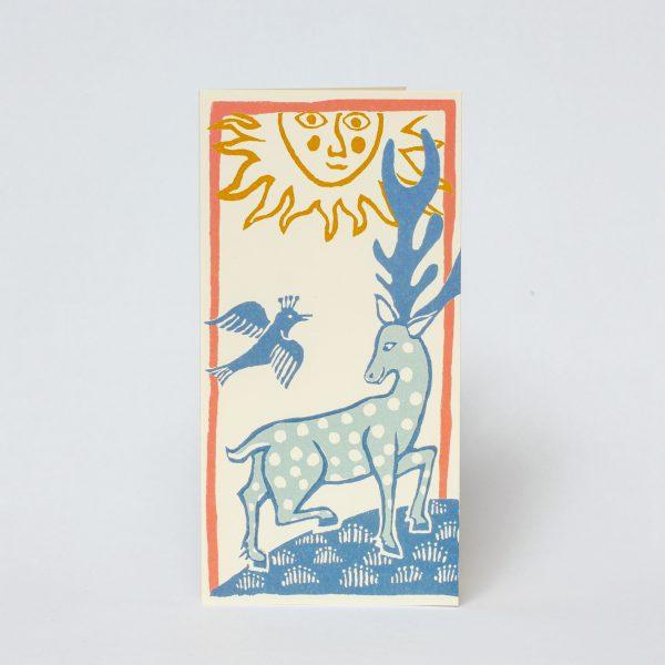 Deer and Bird Card