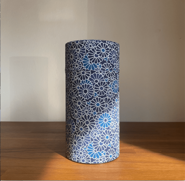 Blue Flower Caddy